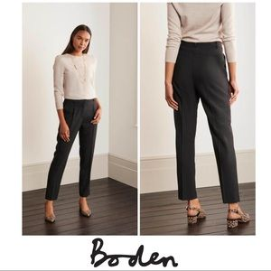 NEW Boden Bridport Straight Leg Pants In black